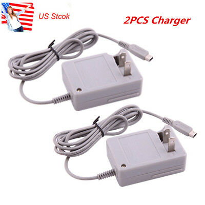2Pcs Travel Charger Power Adapter Cord Home Wall  For Nintendo 2DS XL 3DS NDSi D