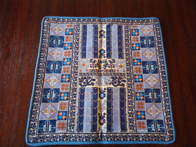 """Palestinian Embroidered Pillow Cushion Covers, 7 Blue Designs, 15 1/2"""" Square"""