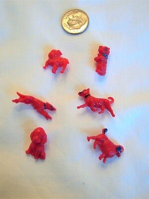 Goofie Realistic Red Dog Buttons With Handpainted Details 1940's
