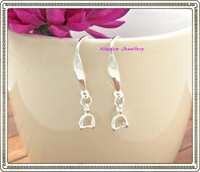 2 pcs (1 pair) Jewelry Finding 925 Silver Earring Ear Hook Earwire For Crystals