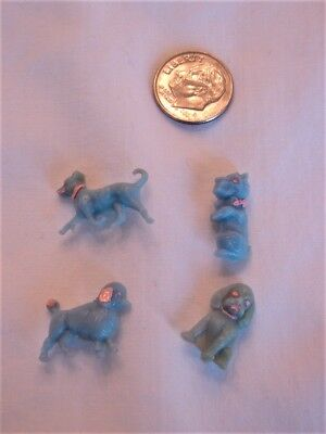Goofie Realistic Blue Dog Buttons With Handpainted Details 1940's