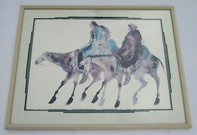 Carol Grigg Large Litho Fine Art Print Two Natives on Horses