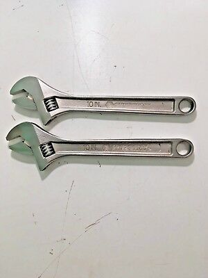 "10"" Genuine Crescent Adjustable Wrench X 2"