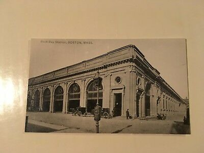 Vintage photo NY NH & H Railroad station Old Back Bay Boston MA