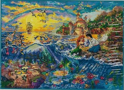 Embroidery Kit Disney Thomas Kinkade Picture The Little Mermaid Cross Stitch