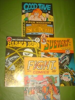 Underground Comix  Lot Of 5, 1971 -1976   Very Good Condition, Excellent Artists
