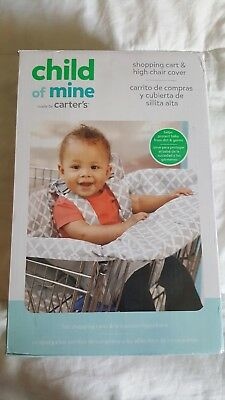 New in box Child of Mine Carters Shopping cart & high chair cover grey and white