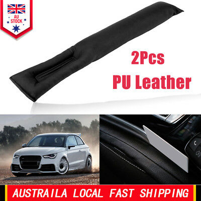 2X Universal Car Seat Gap Filler Black PU Leather Spacer Decoration Cover US