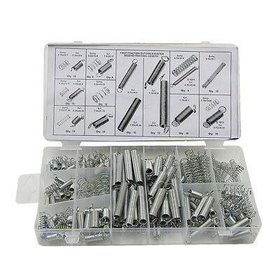 200pc 20 Sizes Spring Assortment Kit Zinc Plated Steel Compression Extension