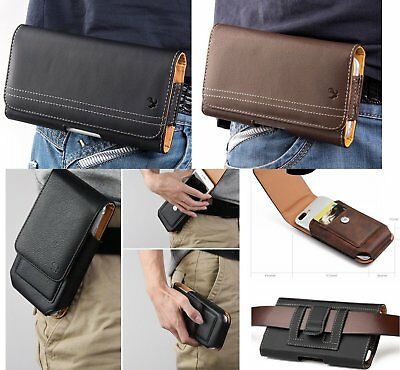 LG STYLO 4 / LG Q STYLUS - Leather Belt Clip Pouch Holster Carrying Phone Case