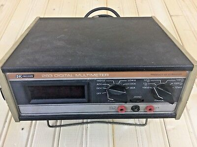 Vintage Dynascan Bk Precision Model 283 Digital Multimeter 105-130Vac 15W Tested