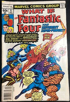 Marvel Comics What If #6 The Fabulous Fantastic Four Had Different... Dec. 1977