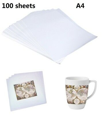 100 Sheets A4 Dye Sublimation Heat Transfer Paper for Polyester Fabrics T- Shirt