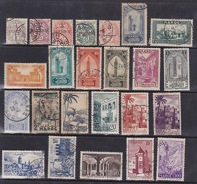 Morocco - Nice Selection Of 24 Stamps - Early Lot !!