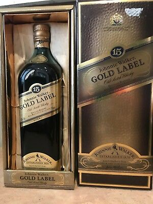 Johnnie Walker 15yr Old Scotch Whiskey rare and old coffin box