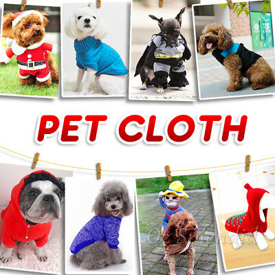 2019 Puppy Cat Small Dog Winter Clothes Warm Jacket Jumper Hoodie Sweater Coat
