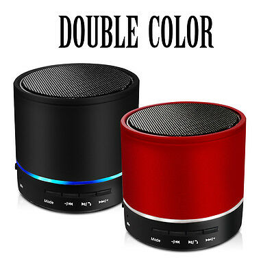 Metal Cover Rechargeable Portable Bluetooth Wireless Speaker Mini Super Bass LED