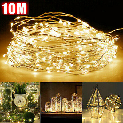 1M-10M Battery Powered Copper Wire String Fairy Xmas Party Lights Mix-Color