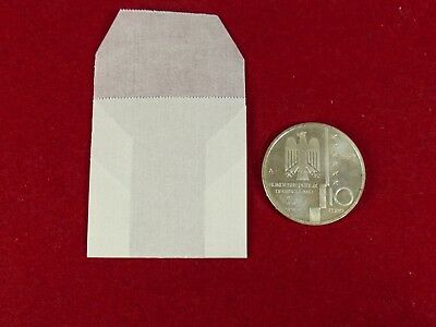 Pack of 100 Schaubek pure Glassine coin envelopes acid free for coins up to 46mm