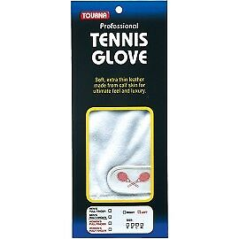 Tourna Men's Half Finger Tennis Glove Soft Sheepskin Leather Right Hand Large