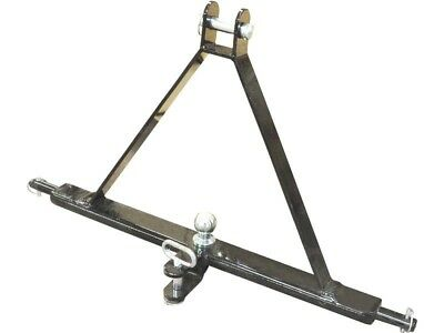 3 POINT LINKAGE TOW HITCH - Compact Tractor Mounted Towing Cat 1 Triangle Pin
