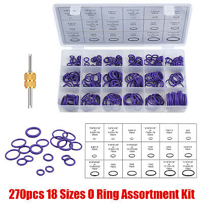 270pcs rubber O-ring seal gasket Set Car Air Conditioning Window A/C Trim Repair
