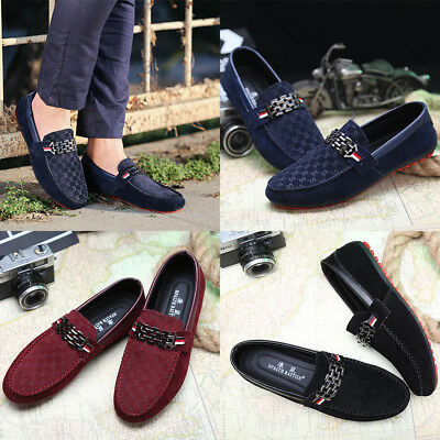 Men's Driving shoes Loafers Suede Leather Moccasins Slip on Casual Espadrilles