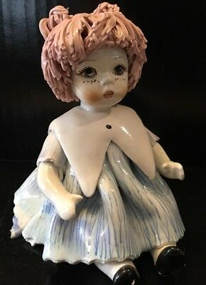 Rare Signed Zampiva Ceramic Doll Italy