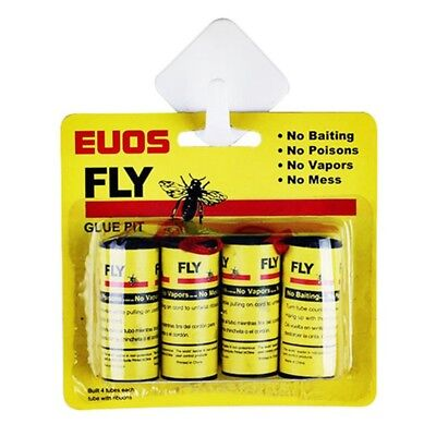 4 Pack Sticky Fly Bug Wasp Paper Catcher Trap Indoor Greenhouse Fly Catchers
