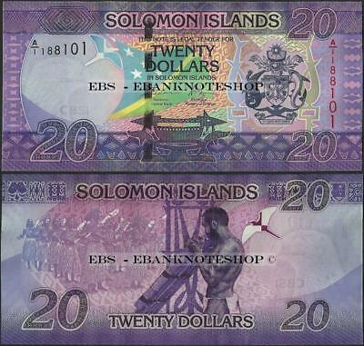 Solomon Islands,PNew,20 Dollars,2017,Uncirculated@Ebanknoteshop