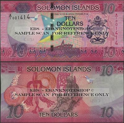 Solomon Islands,PNew,10 Dollars,2017,Uncirculated@Ebanknoteshop