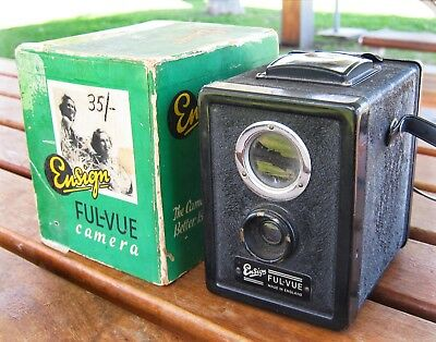 Ensign Ful-Vue Box Camera-Huge viewfinder ORIGINAL BOX