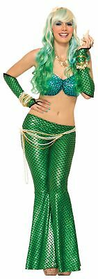 Mermaid Adult Costume Arm Sleeves Green One Size