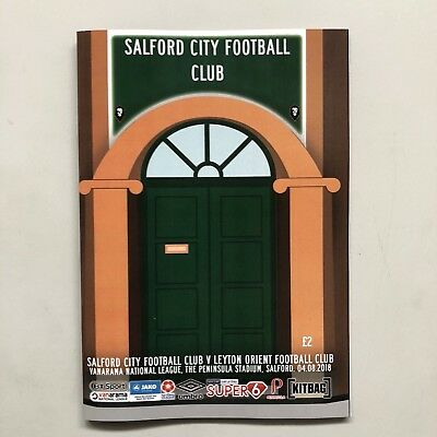 01 Salford City v Leyton Orient 2018-19 National League Programme