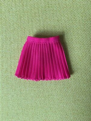 Vintage pink nylon pleated mini skirt for Mary Quant Daisy doll SHIMMYSHIM