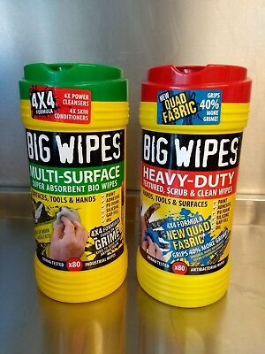 Big Wipes Multi Surface + Heavy Duty 80 wipes per tub bundle