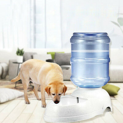 Large Automatic Pet Dog Cat Water Feeder Bowl Bottle Dispenser Plastic 3.5L