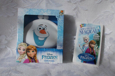 Disney's Frozen~Olaf Silicone Coin Purse & Free Frozen Mini Top Trumps~New