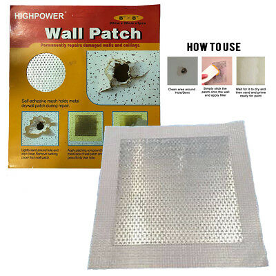 Self-adhesive Wall Patch Stick Mesh Dry Repair For Walls Ceiling Plastering 8x8""