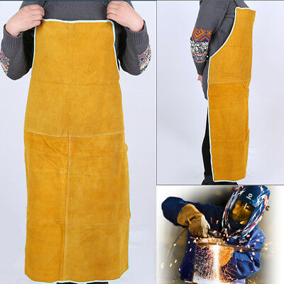 Apparel Cowhide Leather Apron Welder Apron Welding Safety Body Protective Gear