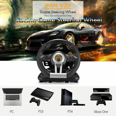 Playstation Race Game Steering Control with Brake Pedal For PC Xbox One PS3 PS4