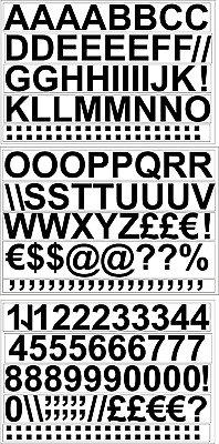 """Size 1"""",  Self Adhesive Vinyl Letters & Numbers Upper/lower Stickers"""