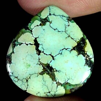 22.40Cts 100% Natural Designer Tibet Turquoise Pear Cabochon Loose Gemstone