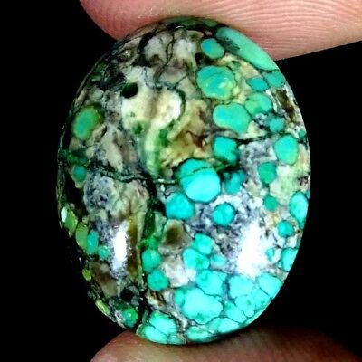 11.10Cts. NATURAL TIBET TURQUOISE OVAL CAB PENDANT SIZE LOOSE GEMSTONE