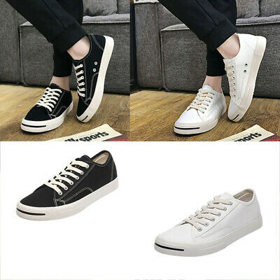 New Men's Casual Canvas Shoes Sneakers Low Cut Lace up Walking Flats Shoes