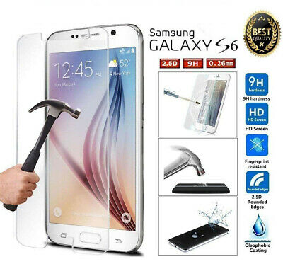 For Samsung Galaxy S6 S7 100% Genuine Tempered Glass LCD Screen Protector Film