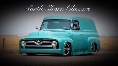 F-100 -SHOW STOPPER-FRAME OFF-PANEL TRUCK WITH AIR RIDE 1955 Ford F100 for sale!
