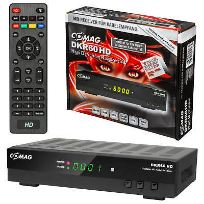 Comag DKR60 HD TV FULL Digital Kabelreceiver HDMI USB Scart Hdmi EPG DVB-C