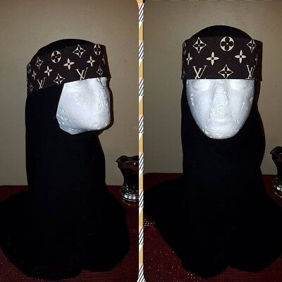 Brown niqab band with straps