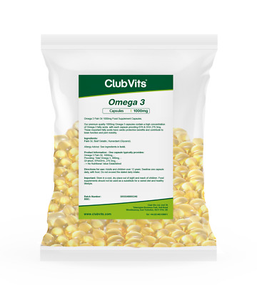 Club Vits - Omega 3 1000mg 365 Capsules